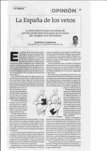 Artículo La Verdad de Murcia 08-01-2019
