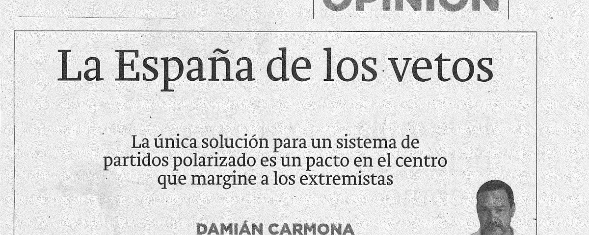 La Verdad de Murcia 08-01-2019 La España de los vetos