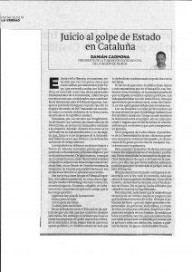 LA VERDAD 12-03-2019 Juicio al Golpe de Estado en Cataluña